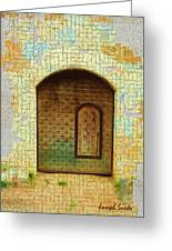 Do-00489 Old Door Within A Door-crackles Greeting Card