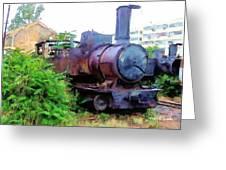Do-00504 Train In Mar Mickael Greeting Card