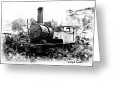Do-00508 Mar Mikhael Train Bw Greeting Card