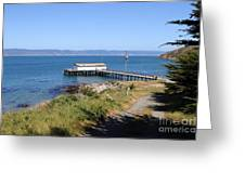 Dock At Point Reyes Calfornia . 7d16069 Greeting Card