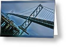 Dock By The San Francisco Bay Bridge Greeting Card