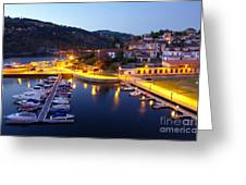 Dock In Douro River Greeting Card