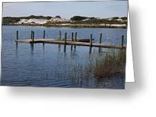 Dock On The Lake Greeting Card
