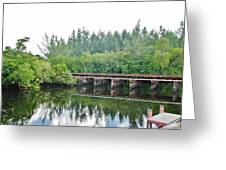 Dock On The North Fork River Greeting Card