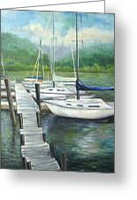 Dock Side Greeting Card