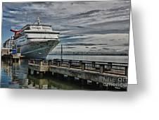 Docked Cruise Ship Three Greeting Card