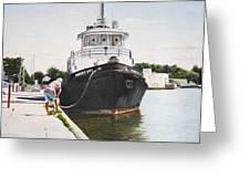 Docking  Greeting Card