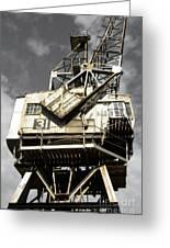 Dockside Crane Greeting Card