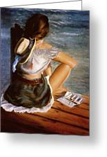 Dockside Daydreaming Greeting Card