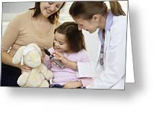 Doctor And Child Playing Greeting Card