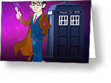 Doctor Who And Tardis Greeting Card