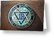 Dodge Brothers Badge Greeting Card by Steve McKinzie