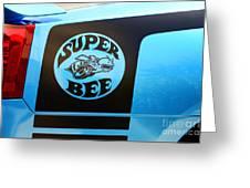 Dodge Charge Super Bee Logo  Greeting Card