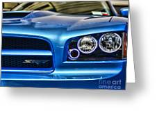 Dodge Charger Front Greeting Card