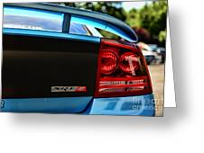 Dodge Charger Srt8 Rear Greeting Card