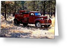 Logging Fire Truck Greeting Card