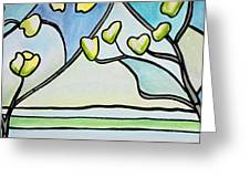 Dogwood Stained Glass I Greeting Card