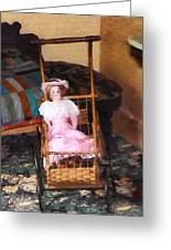 Doll In Carriage Greeting Card