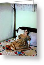 Doll On Four Poster Bed Greeting Card