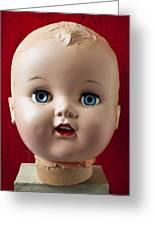 Dolls Haed Greeting Card