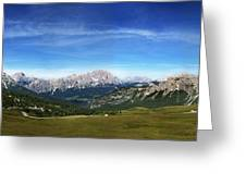 Dolomiti's Panoramic Greeting Card