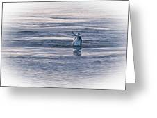 Dolphin Mullet Breakfast Greeting Card