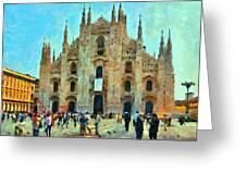 Dome In Milan Greeting Card