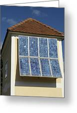 Domestic Solar Panel Greeting Card by Friedrich Saurer