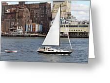 Domino Sugar Sailing Greeting Card