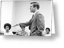 Donald Rumsfeld Greeting Card by Jan W Faul
