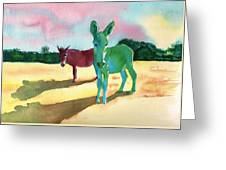 Donkeys With An Attitude Greeting Card