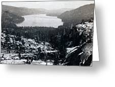 Donner Lake - California - C 1865 Greeting Card