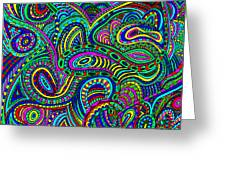 Doodle 2 Greeting Card
