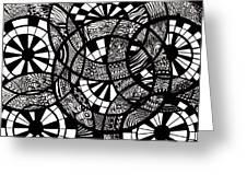 Doodle Circular  Greeting Card