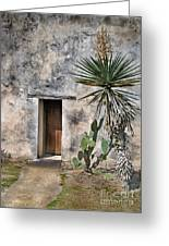 Door In Spanish Mission Building Greeting Card