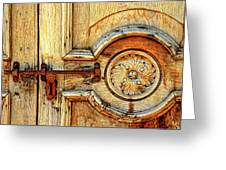 Door Study Taos New Mexico Greeting Card