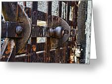 Door To Death Row Greeting Card
