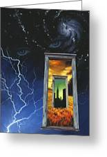 Door To The Sky Greeting Card