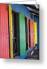 Doors Of Colors Greeting Card