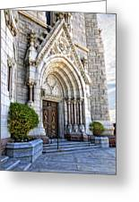 Doorway Sacred Heart Cathedral Greeting Card