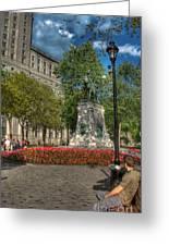 Dorchester Square Boer War Memorial Greeting Card