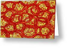 Dots And Rings Greeting Card