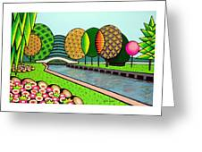 Doty Park Fluorescent Greeting Card