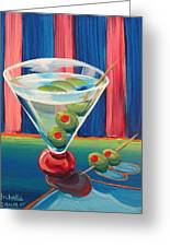 Double Dirty Martini Greeting Card