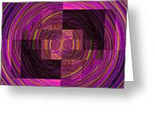 Double Rainbow Eddy Greeting Card
