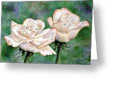 Double Roses Greeting Card