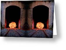 Double Tunnel On Fire Greeting Card