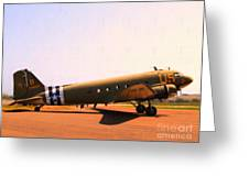 Douglas C47 Skytrain Military Aircraft . Painterly Style 7d15788 Greeting Card by Wingsdomain Art and Photography
