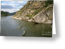 Douro Rock Formation Greeting Card by Arlene Carmel