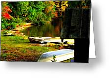 Down By The Riverside Greeting Card by Karen Wiles